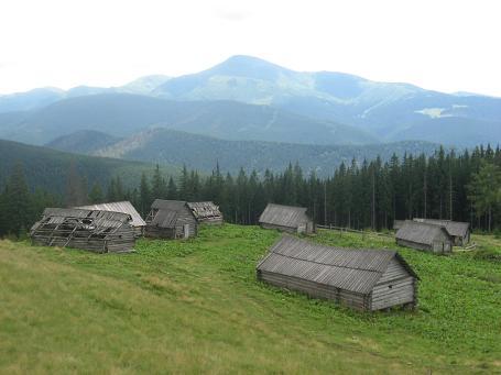 Літня резиденція малої і великої рогатої худоби. А ззаду – Говерла