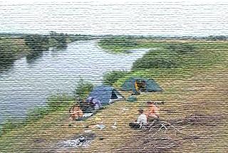 Наш табір на річці Сейм