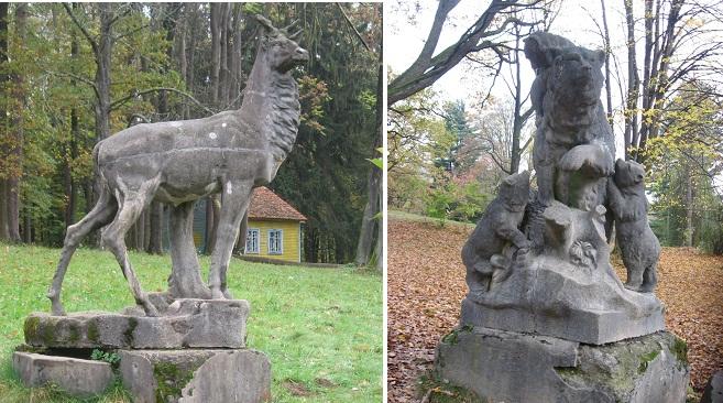 Скульптури тварин у парку
