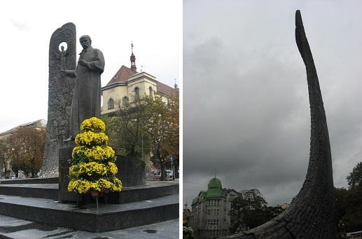 Пам'ятник Шевченку з різних ракурсів