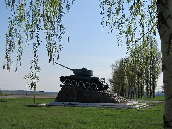 Танк-памятник у Штепівці