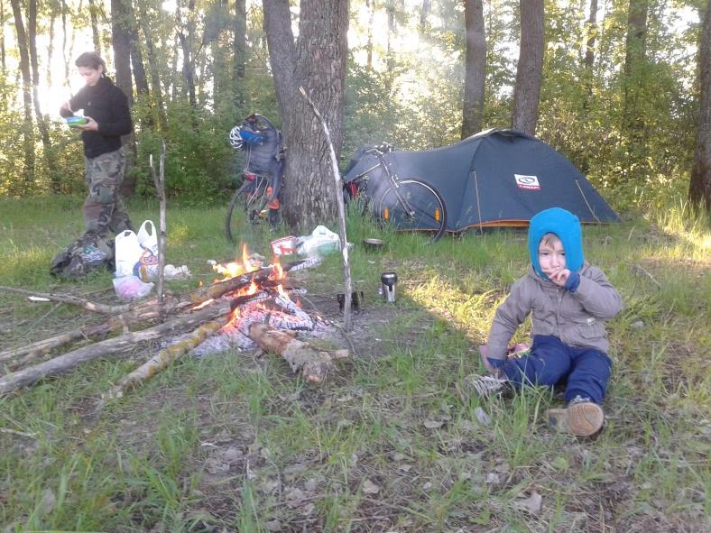 Наш табір над річкою Снов